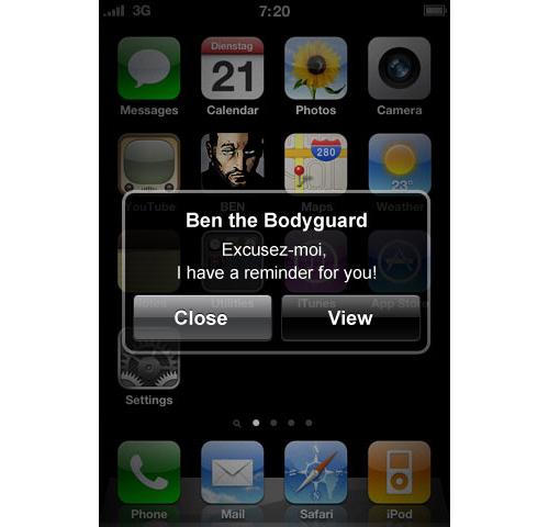 Уведомления от Бена