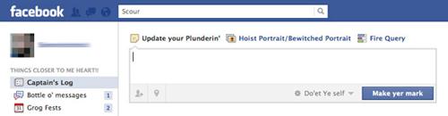 Пиратский сленг от Facebook