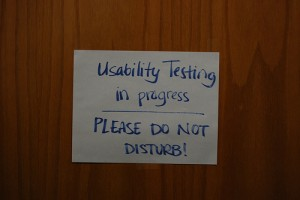 Usability testing in progress, please do not disturb