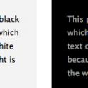 Изображение к Когда использовать белый текст на темном фоне